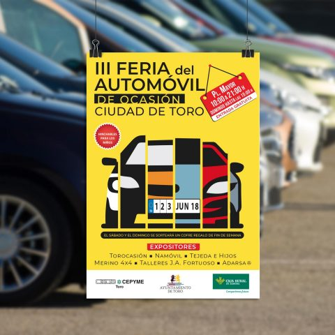 Cartel Feria Automovil Toro