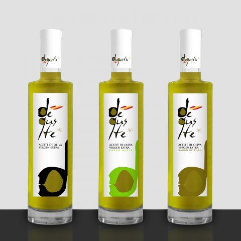 Etiquetas de Aceite de Oliva Virgen Extra Deguste