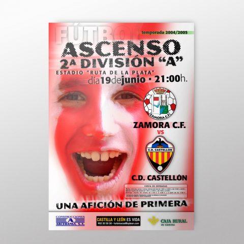 Cartel Partido Ascenso Zamora C.F.