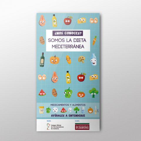"Cartel ""Dieta Mediterránea"" para el C.O.F. Zamora"