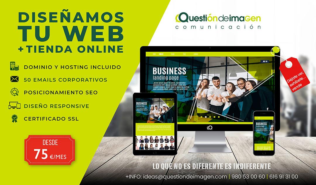 Tu web + tienda online desde 75€ / mes