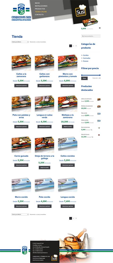 Tienda Online Casquería Susi