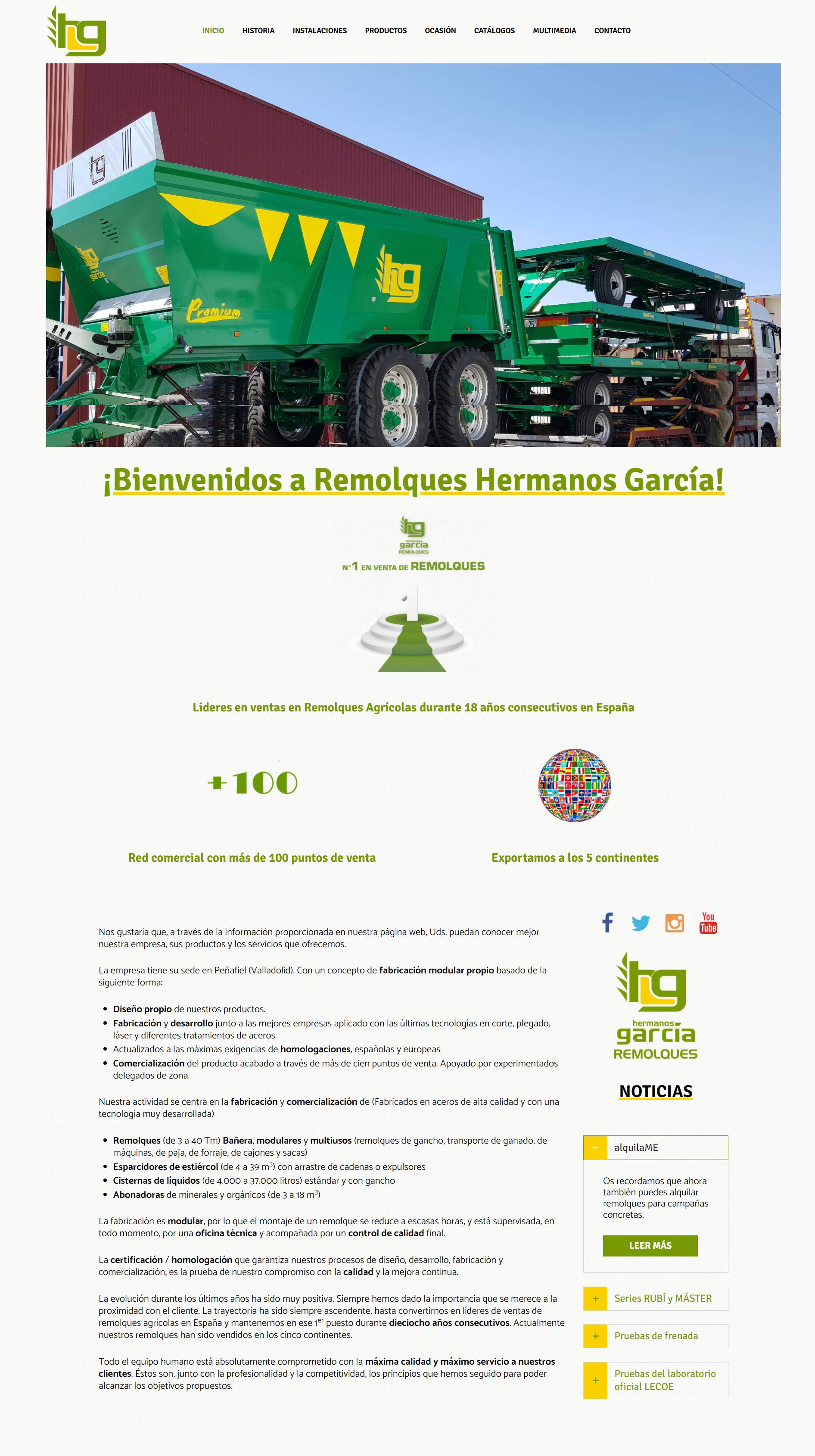 Nueva web Remolques Hermanos García